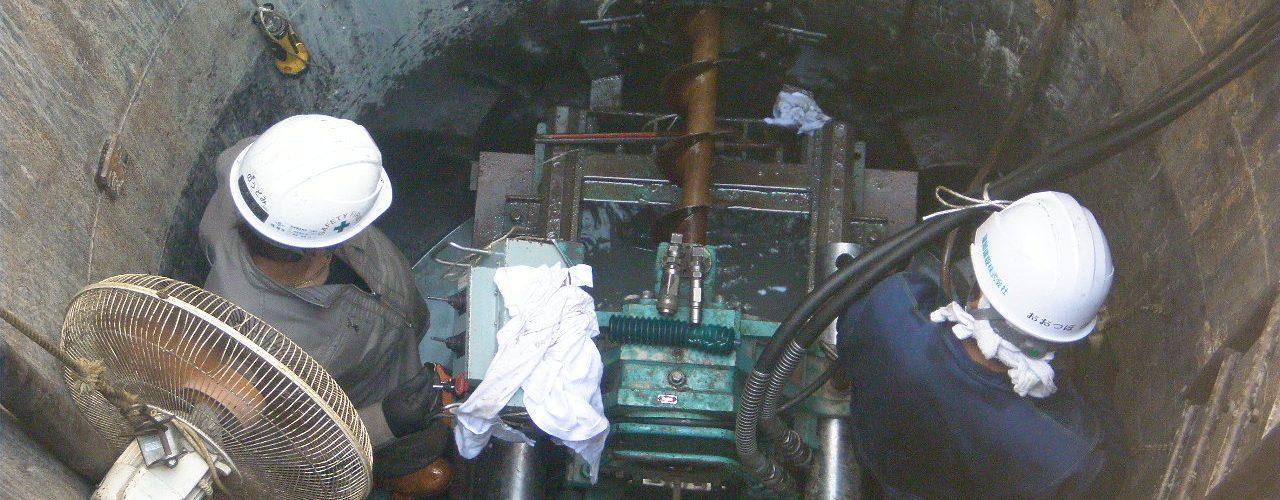 川副南6区下水工事工事状況写真